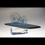 Glass and Fine Stainless Steel Wire Mitosis by Ema Tanigaki
