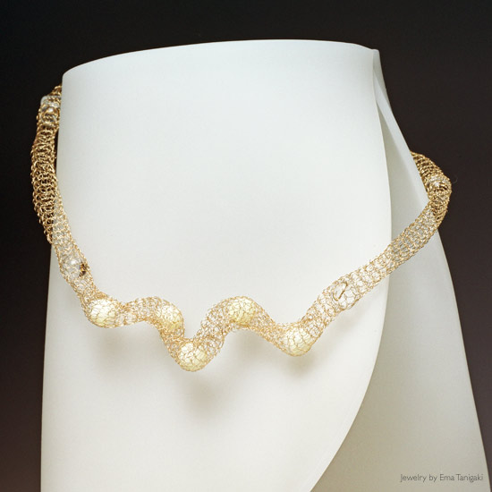 Curl Mother of Pearl Necklace by Ema Tanigaki
