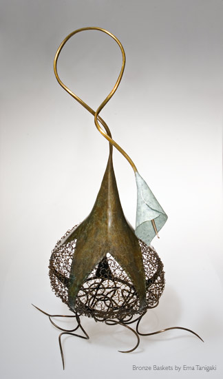 Rhyme and Reason Bronze Basket by Ema Tanigaki